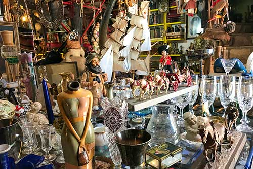 estate sale antiques, glassware, sailboat model, household goods and collectibles